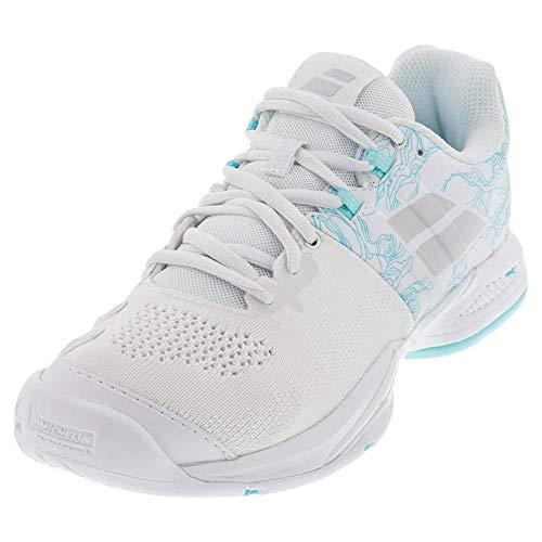 Babolat Propulse Rage All Court - Zapatillas de tenis para hombre, (Color blanco y azul.), 37.5 EU
