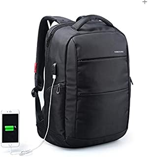 15.6 inch Anti-theft Man and Woman Business Laptop Backpack with USB Charger MG154 Black