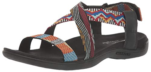 Merrell Women's District Kalbury Cross Strap Sandal, Multi, 5 M US