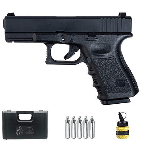 Saigo GLK 23 Negra | Pistola de Airsoft Sistema: Gas semiautomática Tipo Glock 23 + maletín y Accesorios