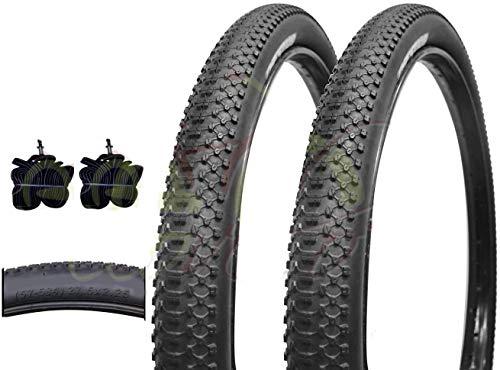 Deestone EBA27MBD 2 COPERTONI + 2 CAMERE d'Aria Mountain Bike 27.5 x 2.25 MTB 57-584 Pneumatici RIGIDI Bicicletta Bici