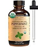 Organic Peppermint Essential Oil (4 oz), USDA Certified by Mary Tylor Naturals, Mentha Piperita for Stress Relief, Relaxation, Aromatherapy, Diffuser