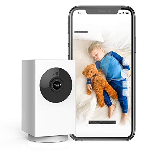 Rreslicam Cámara de Vigilancia WiFi, 1080P Cámara IP Inalámbrica, HD Visión Nocturna, Detección de Movimiento Remoto,Alerta de aplicación, Audio Bidireccional