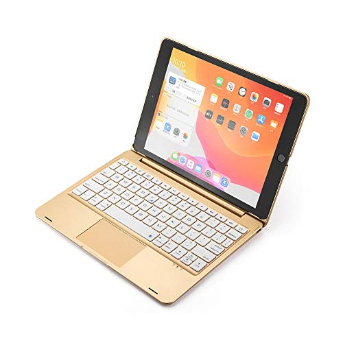Keyboard Case For iPad 10.2 2019 8Th 10.2 2020 Touchpad Backlight Wireless Bluetooth Cover For iPad Air 3 10.5 2019 Pro 10.5-Gold_set