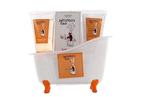 Accentra Bade- Und Duschset Anti-Stress Bad, 5-Teiliges Beauty Geschenkset In Schöner Deko-Badewanne