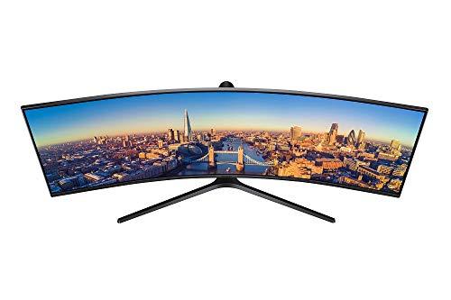 Samsung C49J890 124,46 cm (49 Zoll) Premium Curved Business Monitor (HDMI, DisplayPort, USB Type-C, USB 3.0 HUB, 3,5mm Audio, 5 ms Reaktionszeit (G/G)) schwarz