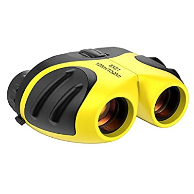Gifts for 4 5 6 7Year Old Girls, Compact Binoculars Best Gifts for 3-12 Year Old Girls Boys Girls Toys for Boy Age 3-12 Year Old 2019 Gifts for Girls Stocking Fillers Yellow TGUS03.
