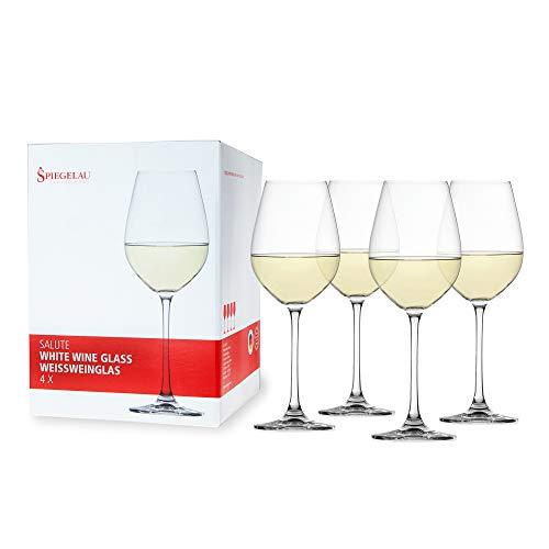 Spiegelau & Nachtmann, 4-teiliges Weißweinglas-Set, Kristallglas, 465 ml, Salute, 4720172