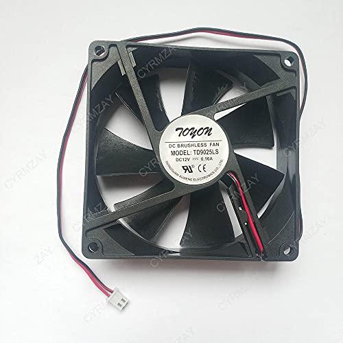 CYRMZAY Compatible for TONON TD9025LS 12V 0.16A 9CM 90 * 90 * 25mm 2Pin Cooling Ventilador