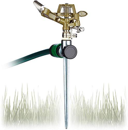 BETOY Arroseur de Jardin,métal Tuyau deau Pulvérisateur Arroseur,arroseur Rotatif à 360 °,Arroseur Premium pour,Arrosage de Grandes Surfaces