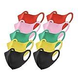 Rabbiter 10 Stück Einfarbig Mundschutz aus Seide Farbe Gemischte Farbkombination Waschbar Nasenbügel Mode Atmungsaktiv Staubdichte Mund und Nasenschutz Halstuch Bandana