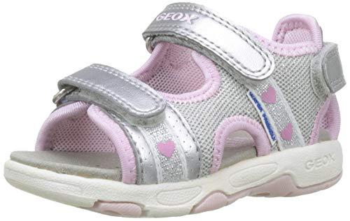 Geox B Sandal Multy Girl B, Sandalias para Bebés, Silver/Pink C0566, 20...