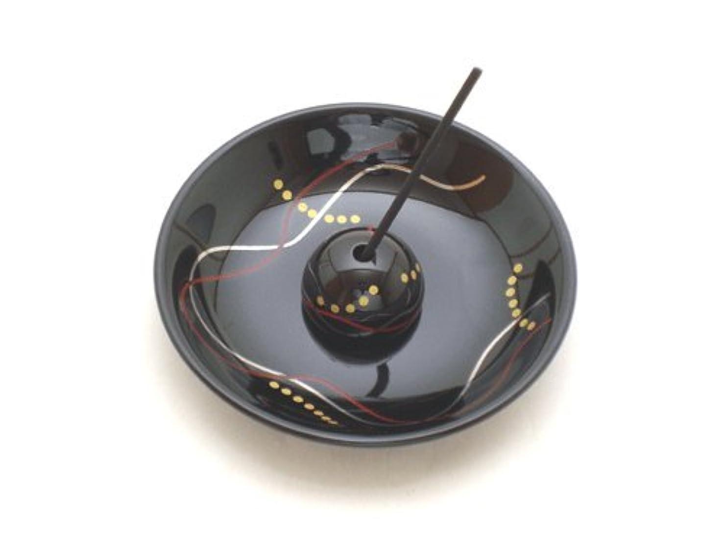 電球下るリーチ【香立て】 おしゃれな香皿 「華かんざし 漆黒」