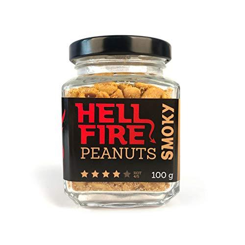 Volim Ljuto Hellfire Rauchig Erdnüsse (Trinidad Scorpion und Fatalii Chili) 100 g Scharfe 4/5