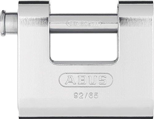 ABUS Monoblock-Vorhangschloss Messing, mit Stahlmantel, 30609