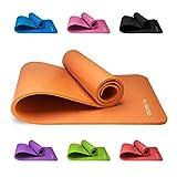 Tapis de Yoga Antidérapant KG | PHYSIO (1cm), Qualité Premium Tapis de Sol Fitness pour la Salle de Sport, Pilates ou à la Maison avec Bandoulière (à l'intérieur du tapis) 183cm x 60cm x 1cm (épais)
