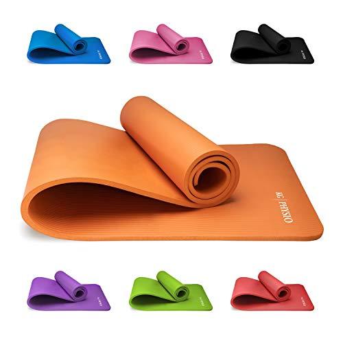 Premium Yogamatte, Sportmatte, Gymnastikmatte, Fitnessmatte, Trainingsmatte oder zuhause mit Schultertragegurt 183 x 60 x 1cm