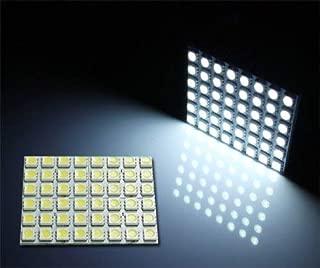 iJDMTOY (1) White 48-SMD-5050 LED Interior Panel Light For Any Cars, Trucks Interior Dome Light