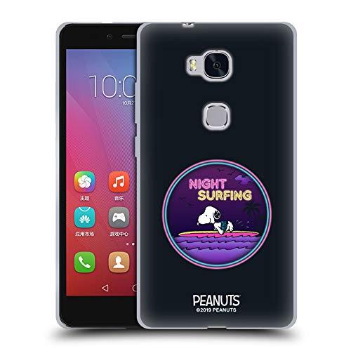 Head Hülle Designs Offizielle Peanuts Nacht Surfer Snoopy Aloha Disco Soft Gel Handyhülle Hülle Huelle kompatibel mit Huawei Honor 5X / GR5