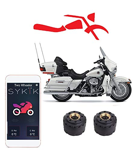 SYKIK Rider Wireless tire Pressure Monitoring System for Motorcycles. Check Your tire Pressure While Riding (W/APP)