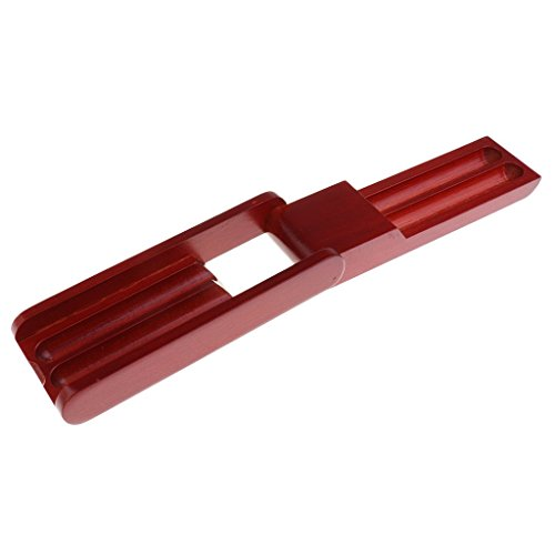Portamatite portatile in palissandro con 2 scomparti per penne stilografiche, regalo e decorazione artigianale