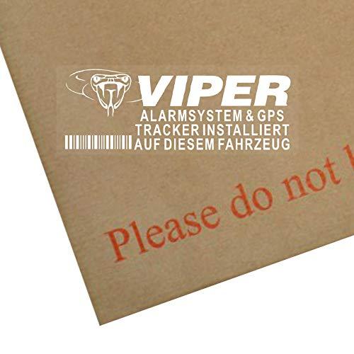 Platinum Place 5 x Viper Sistema de Alarma y GPS Tracker Installiert Auf Diesem Fahrzeug-Fensteraufkleber