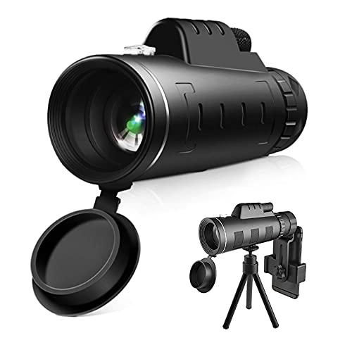CYGGBF Monokulare Teleskope, FMC Prisma Wasserdicht monokular-Teleskope mit Smartphone Adapter Stativ für Vogelbeobachtung, Wandern Sightseeing, Konzert Ballspiel, Camping