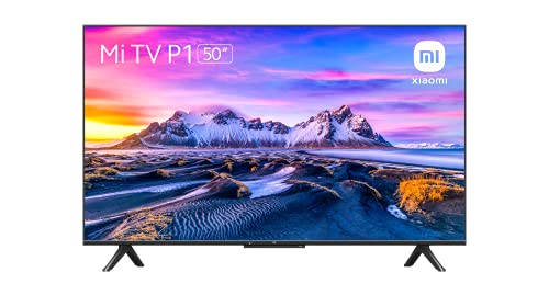 Xiaomi Smart TV P1 50 Pulgada (Frameless, UHD, Sintonizador Triple, Android 10.0, Prime Video, Netflix, Google Assistant, Compatible con Alexa, Bluetooth, 3 HDMI, 2 USB) Model 2021 Clase de eficiencia energética G,