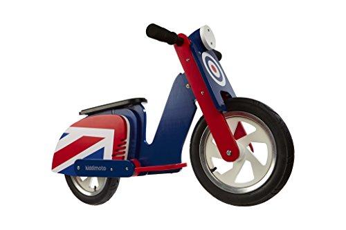 KIDDIMOTO 408 Scooter brit pop, Laufrad im Retro Design