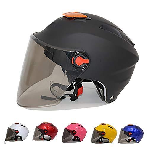 Stella Fella Cascos para hombres y mujeres HD Shade Pp plástico hermoso multicolor opcional al aire libre casco de motocicleta (color: negro)
