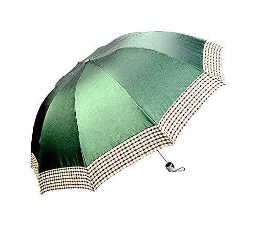 Y-S Paraguas/Refuerzo de Diez Huesos/Paraguas Doble/Paraguas de Negocios/Enrejado de Color Sólido/Paraguas Plegable/Amortiguador...