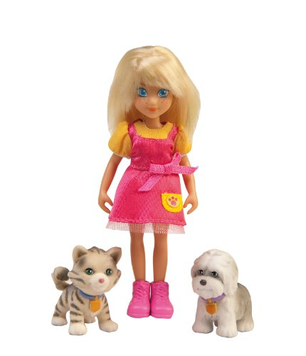Puppy In My Pocket - Aventures à Pocketville - 5753 - Figurine - Blister 1 Mini Poupée + 2 Puppies