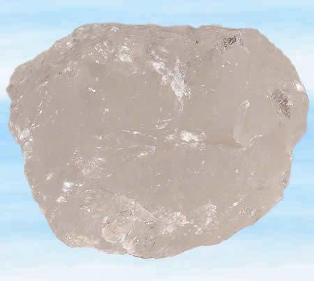 Bergkristall Rohstein, mittel