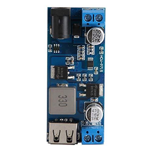 Module d'alimentation abaisseur de tension, XH-M249 Module convertisseur d'alimentation abaisseur de tension 30 W Module de convertisseur d'alimentation 9 ~ 36VDC à 5VDC 6A avec port de sortie USB