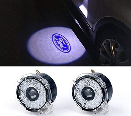 Sunshine Fly 2pcs LED Side Mirror Welcome Logo Projector Light Ghost Light Car Replacement Light Accessories (For Edge Explorer F150)