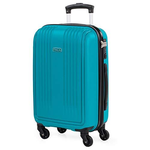 ITACA - Maleta de Cabina para Viaje rígida de Polipropileno con Cerradura TSA 4 Ruedas. Ligera y asa Lateral y Superior de Altura Regulable 760350, Color Turquesa