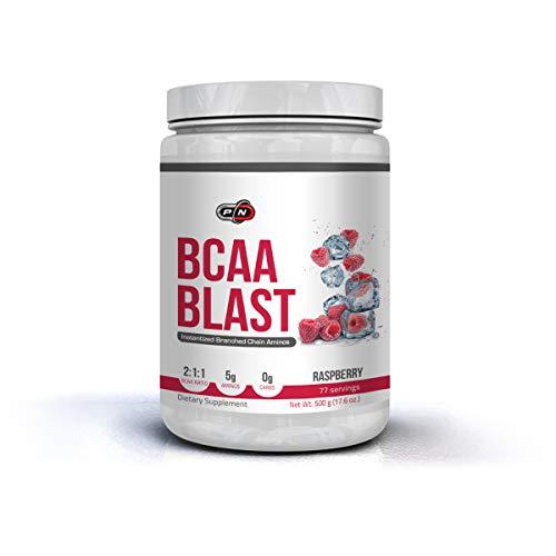 Pure Nutrition BCAA BLAST Pulver Amino Drink 2 1 1 Aminosäuren Komplex Hochdosiert Getränk mit Leucin Isoleucin Valin Glutamin Tollem Geschmack und Neutral Unflavoured 500g 250g 38 77 Portionen