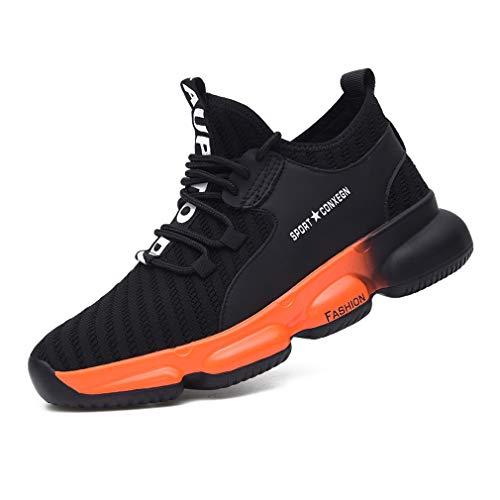 jincan Zapatos de Seguridad para Hombre Zapatillas con Punta de Acero Zapatos de Trabajo Ligeros Zapatillas industriales Transpirables para Mujer - JI13
