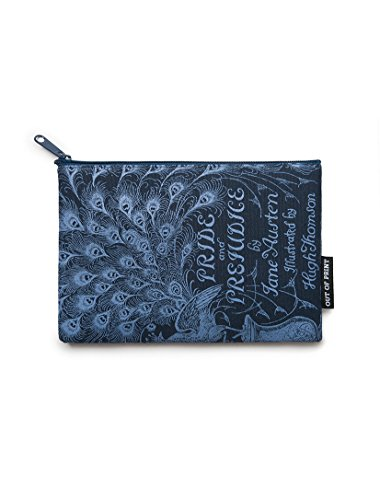 Out of Print Pride and Prejudice Pouch Navy