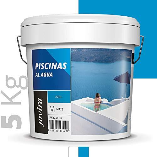 PINTURA PISCINAS AL AGUA,Protección y decoración de piscinas. (5 KG, AZUL)