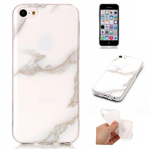 Docrax iPhone 5C Handy Hülle Marmor Muster, HandyHülle Silikon Stoßfest Kratzfest Schutzhülle Bumper Case für Apple iPhone5C - DOYHU40999#8
