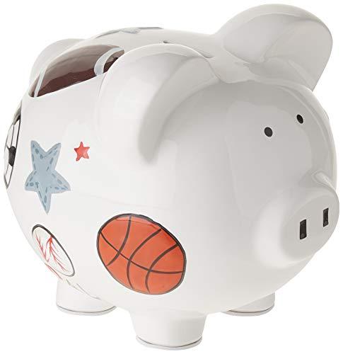 Child to Cherish Ceramic Piggy Bank for Boys, Sports