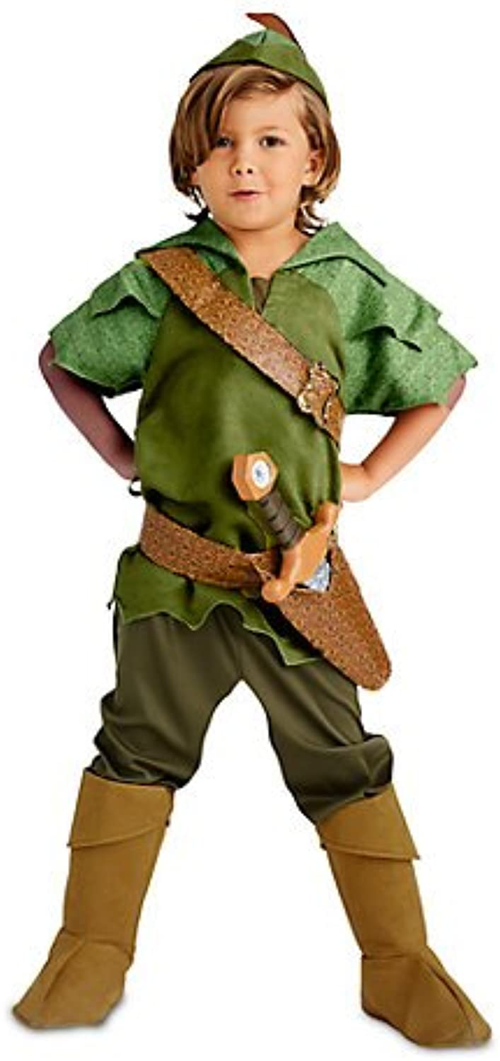 Peter Pan Fancy Dress Costume For Kids  Includes tunic, Trousers, Hat and Suede boot covers  Size 5  6 year, Authentic , Original Disney store's.