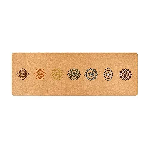 Liery - Esterilla de Yoga, 183 68 cm, Caucho Natural, Esterilla de Yoga, Corcho, Esterilla de Yoga 5 mm, Antideslizante, para Gimnasio, Pilates, Deporte