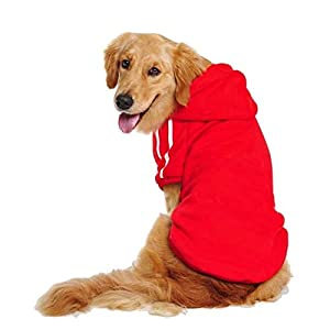 Kailian Big Dog Clothes for Large Dog Hoodies for Large Dog Coats Sweaters for Medium to Large Dogs Red 6XL