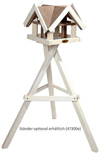 """Luxus-Vogelhaus 47880e Aufwendiges Vogelhaus im """"Antikfinish""""-Design (gescratcht) aus lasiertem Kiefernholz mit 4 Giebeln, braun/weiß - 4"""