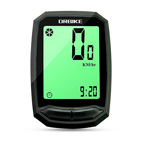 Hiland Bike Wired Speedometer and Odometer, Multifunctional Bicycle Computer with Large LCD Backlight Display Waterproof, Cycling Odometer for Mountain Bike & Road Bike