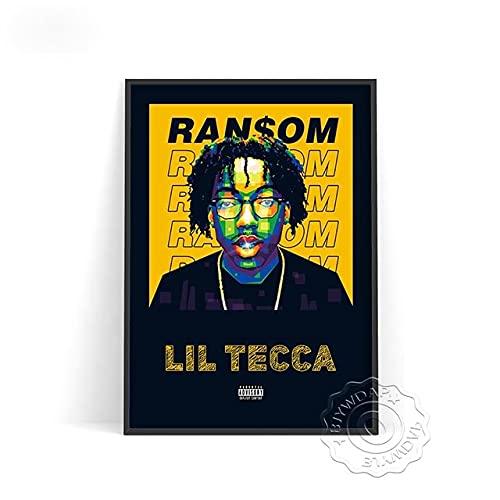 xmydeshoop Rapper Roddy RIcch Poster, JID Alligatoah Poster, Sido Kunstdrucke, The Weeknd Music Poster, The Kid Laroi Bar Pub Club Art Decor 50x70cm No Frame PE-1374