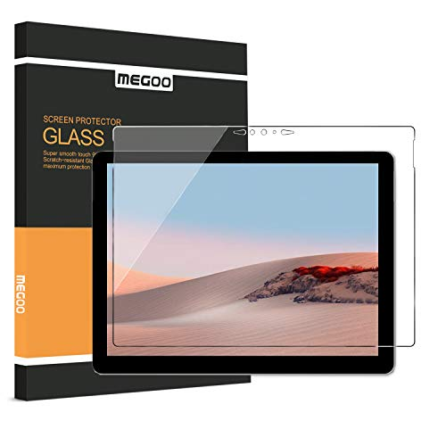 MEGOO Screen Protector for Surface Go 2 10.5 inch (2020 Release), Premium Tempered Glass,Scratch Resist, No Bubbles, HD Clear, 9H Hardness Microsoft Surface Go Screen Protector (1901 Model)