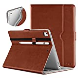 DTTO New iPad 9.7 Inch 5th/6th Generation 2018/2017 Case with Apple Pencil Holder, Premium Leather Folio Stand Cover Case for Apple iPad 9.7 inch, Also Fit iPad Pro 9.7/Air 2/Air - Brown